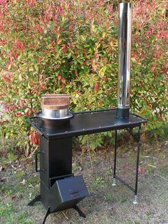 テーブル型調理用コンロ Furnace Heater, Stove Heater, Rocket Heater, Rocket Stoves, Outdoor Oven, Outdoor Cooking, Rocket Stove Design, Welded Metal Projects, Primitive Technology