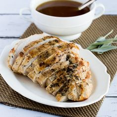 This delicious recipe for CrockPot Turkey Breast also has suggestions for lower-carb gluten-free turkey gravy.