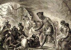 Pocahontas Saves The Life of John Smith