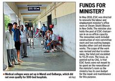 ESIC wasted Rs 10,000 cr by starting 22 medical colleges said CAG Audit Report. For more details, please click on the following link: http://www.hindustantimes.com/india/esic-wasted-rs-10-000-cr-by-starting-22-medical-colleges-cag/story-jNu2Qpkf2dmByVoEfApN0N.html