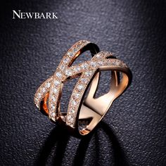 Find More Rings Information about NEWBARK 18k Rose Gold Plated Finger Ring For…