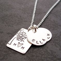 Personalized Jewelry in Sterling Silver  by EclecticWendyDesigns, $59.00