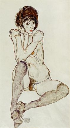 Seated Female Nude, Elbows Resting on Right Knee
