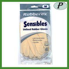 Guantes industriales satinados sensibles de Rubberex en Planas. Guante apto para el contacto con los alimentos.