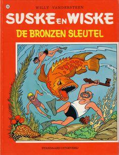 Suske en Wiske #116  De Bronzen Sleutel  gepubliceerd in Kuifje van 2 maart 1950 tot en met 2 mei 1951