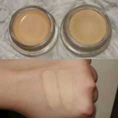 "Dupe swatches- Maybelline 24 Hour Tattoo eyeshadow in ""Just Beige"" on the right and MAC paint pot in ""Soft Ochre"" on the left Beauty Dupes, Beauty Makeup, Makeup Kit, Makeup Products, Makeup Brushes, Makeup Ideas, Maybelline Color Tattoo, Maybelline Eyeshadow, Mac Lipsticks"