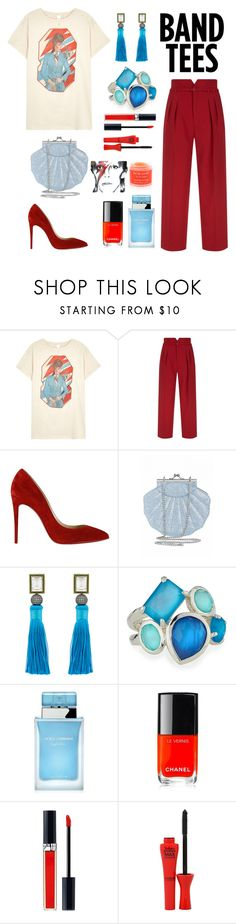 """David's Fan"" by grace-ooi ❤ liked on Polyvore featuring MadeWorn, RED Valentino, Christian Louboutin, Blossom Box, Ippolita, Dolce&Gabbana, Chanel, Christian Dior, Bourjois and Sara Happ"