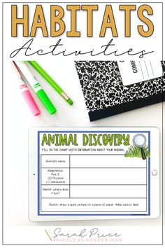 Help your elementary students explore, learn, and write about habitats and adaptations. Check out these engaging digital resources, great for a second grade science class. Science Curriculum, Science Resources, Interactive Activities, Science Activities, Opinion Writing Prompts, Sentence Writing, Vocabulary Sentences, Vocabulary Cards, Passage Writing