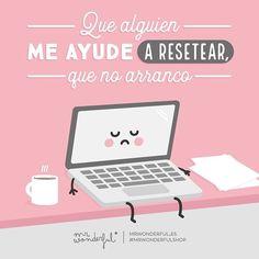 ¡No hay tecla ni router que nos haga empezar enchufados el lunes! #mrwonderfulshop #quotes #monday #laptop #computer