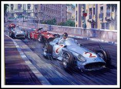 d FormulArte-Juan Manuel Fangio-Mónaco 1955-Artista Nicholas Watts