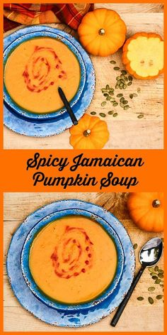 Jamaican Pumpkin Soup is a deliciously flavorful soup that's easy to make and nutritious. #pumpkin #pumpkinsoup