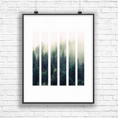 Forest Print, Tree Wall Art, Forest Photography, Printable Art, Rectangle Art, Forest Decor, Home Decor Art, Geometric Art, Green Art by OjuDesign on Etsy https://www.etsy.com/listing/267184360/forest-print-tree-wall-art-forest