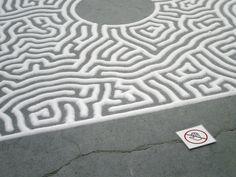 Salt maze in the Kanazawa Art Museum, by Motoi Yamamoto