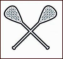 """Lacrosse Temporaray Tattoo by Tattoo Fun. $0.95. This is a Temporary tattoo of two black lacrosse sticks crossed in the form of a X. It measures approx 1 1/2"""" long x 1 3/4"""" wide."""