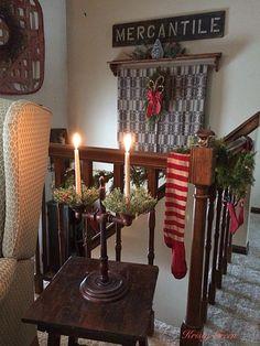 Primitive Christmas Decorating, Primitive Country Christmas, Prim Christmas, Christmas 2017, Simple Christmas, Christmas Decorations, Primitive Decor, Table Decorations, Holiday Decor