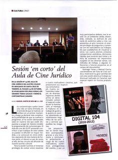 """Revista IUS del Colegio de Abogados de SC de Tenerife, n2 23, noviembre 2013, donde se incluye un artículo de la proyección """"Digital 104 (2010-2012)"""". (1 de 3)"""