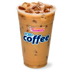 Dunkin' Donuts iced coffees