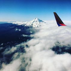 A beautiful look at Mt. Hood, from a descent into PDX. What's your favorite landmark to view from 35,000 feet?