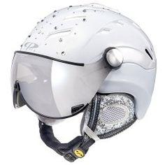 A ski helmet studded with Swarovski crystals! Ski Gear, Snowboarding Gear, Ski Helmets, Riding Helmets, Crystal Ski, Snow Wear, Push Bikes, Snow Fashion, Helmet Design
