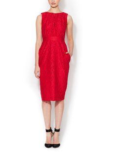 Peter Som Floral Lace Sheath Dress