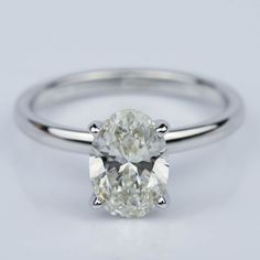 Would you wear this stunning Oval 1.40 Carat Comfort-Fit Solitaire Engagement Ring?