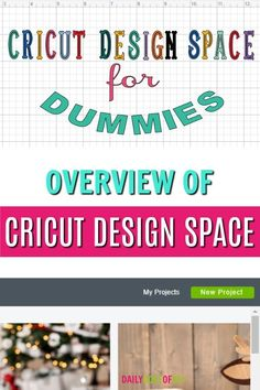 Design Space for Dummies New to the Cricut World? Get started making great crafts with this overview of Cricut Design Space. New to the Cricut World? Get started making great crafts with this overview of Cricut Design Space. How To Use Cricut, Cricut Help, Cricut Explore Projects, Cricut Explore Air, Cricut Air 2, Cricut Vinyl, Cricut Stencils, Cricut Monogram, Tips And Tricks