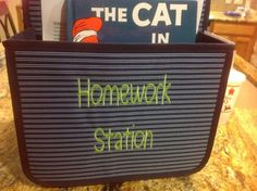 Double Duty Caddy ($25, pictured in Sailor Stripe) makes the perfect place for homework, mail, and more