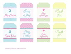 Free printable tags for Spring