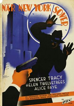 Vintage Swedish movie posters.