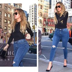 """""""All I want to do is put this women in tight clothes to show off her hot bod!  Hard work pays off #BodyGoals @khloekardashian  @elisabettafranchi…"""""""