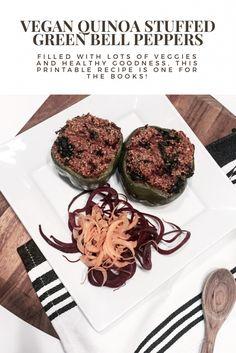 Vegan Quinoa Stuffed Bell Peppers Recipe - Bloom &…