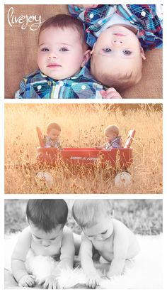 8 Month old Twin Boy outdoor Photos