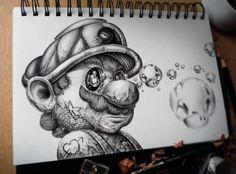 Distroy - des personnages de dessins animés en version obscure par Pez - Dessein de dessin