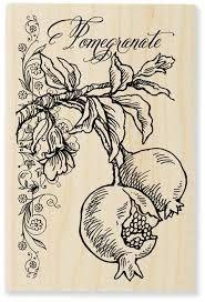 pomegranate stamp - Google Search