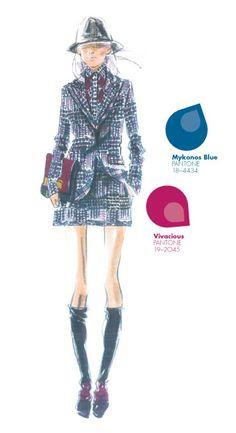 Tommy Hilfiger - PANTONE Color Mykonos Blue - Pantone Fashion Color Report, Fall 2013