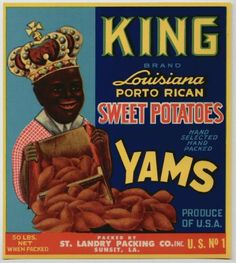 KING Vintage Yam Crate Label