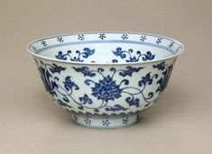 Bowl, circa 1455, China, Ming dynasty, Jingtai period, Jingdezhen, Jiangxi Province, porcelain with underglaze blue decoration, 10.3 x 21.3 cm. Purchased 1975, 56.1975. Art Gallery of New South Wales, Sydney (C) Art Gallery of New South Wales, Sydney