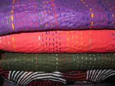The Color Caravan: Kantha Embroidery
