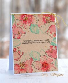 Every Small Thing You Do. by Stamping Virginia - Cards and Paper Crafts at Splitcoaststampers Card Making Inspiration, Making Ideas, Hibiscus Bouquet, Altenew Cards, Beautiful Handmade Cards, Pretty Cards, Watercolor Cards, Paper Cards, Cool Cards
