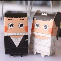 Cute wedding couple that is perfect for a funky couple's wedding souvenir.