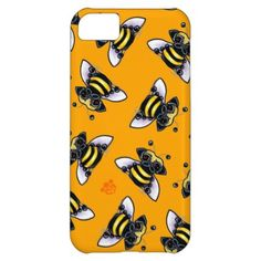 """Pug-a-Bee iPhone 5C Cases                                        Pug-a-Bee iPhone 5C Cases                tagged with: pug, pug gifts, pug lover, pug lover gift, bumble bee, bee, animals, dogs, funny, pets, pug mom, cartoons, drawings, off-leash art, art, dog breeds, cool, humor    Original drawing of a Pug bee by Off-Leash Art.Click the orange """"customize it!"""" button to change the background color, or to add text. Find mor.."""