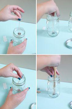 DIY   poured mason jar candle » Something Turquoise {daily bridal inspiration}