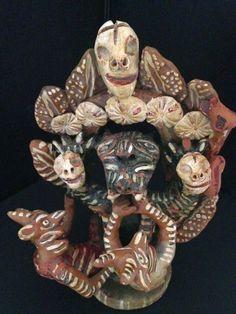 Ocumichu Devil Pottery Signed Catalina Martinez Vintage Mexican Pottery Skull Skeleton Figure Dia De Los Muerte Devil Statue Figure Diablos #Ocumichu #DevilPottery #CatalinaMartinez #DiaDeLosMuertos #DayoftheDead #Diablos #OcumichuDevilPottery #Skull #DecorativeArts #Devil #MexicanDevil