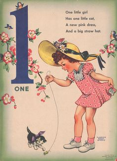 Vintage Counting Rhymes, from Pretty Little Studio
