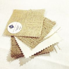 Receiving samples in the post is so exciting, time to start making some decisions about Jute - Grey House England