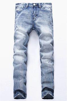 $27.01 Zip Fly Frayed Beam Feet Jeans