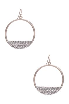 Niki Rhinestone Hoop Earrings | GUESS.com