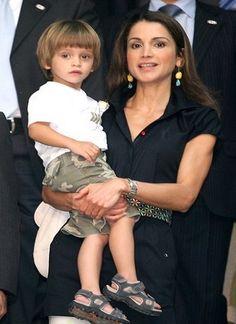R4R Royal Bios: (Jordan) Prince Hashem of Jordan(pictured with Queen Rania)  -Hashem bin Al Abdullah  -born January 30, 2005  -youngest child of King Abdullah II and Queen Rania of Jordan
