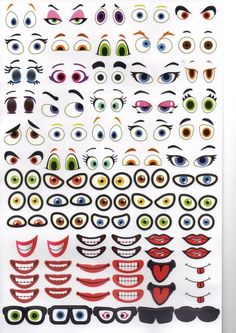 Vector Art: Monster eye and mouth contour vector illustration Eye Painting, Stone Painting, Halloween Drawings, Halloween Crafts, Painted Rocks, Hand Painted, Face Template, Monster Eyes, Cartoon Eyes