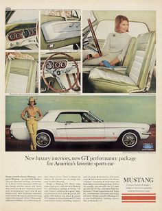 1965 Ford Mustang GT Hardtop Muscle Car Print Ad by AdVintageCom